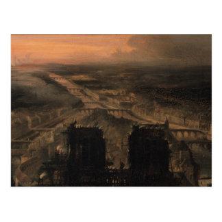 Beleuchtung von Notre Dame Postkarte