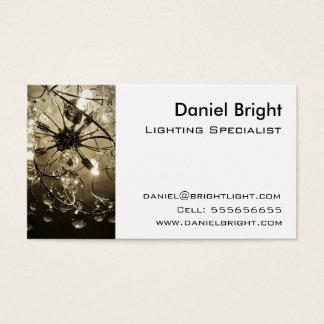 Beleuchtungs-Spezialisten-Visitenkarte Visitenkarte