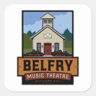 Belfry-volles Logo Quadratischer Aufkleber