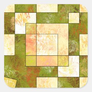 Belgencissa V1 - Herbstfarben Quadratischer Aufkleber