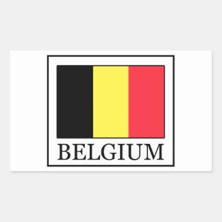 Belgien-Aufkleber Rechteckiger Aufkleber