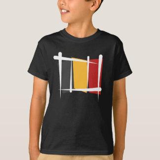 Belgien-Bürsten-Flagge T-Shirt