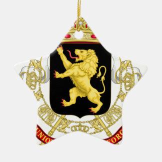 Belgien-Emblem-Wappen - Armoiries Belgique Keramik Ornament