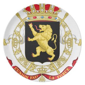 Belgien-Emblem-Wappen - Armoiries Belgique Teller