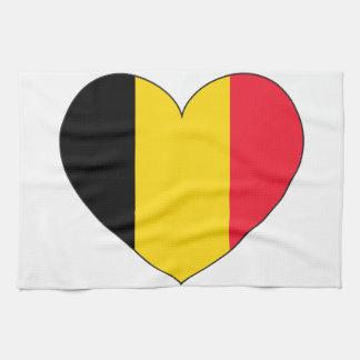 Belgien-Flagge einfach Handtuch