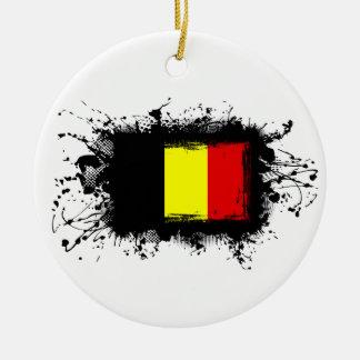 Belgien-Flagge Keramik Ornament