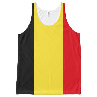 Belgien-Flagge Komplett Bedrucktes Tanktop