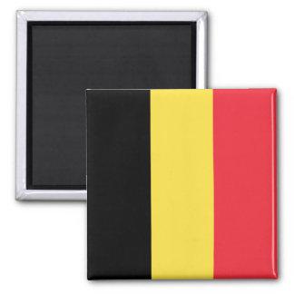 Belgien-Flagge Quadratischer Magnet