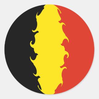 Belgien-Flagge Runder Aufkleber