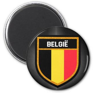 Belgien-Flagge Runder Magnet 5,7 Cm