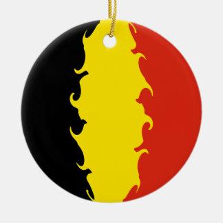 Belgien-Flagge Rundes Keramik Ornament