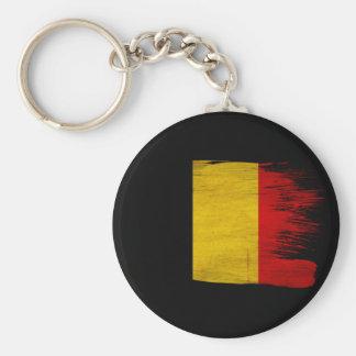 Belgien-Flagge Standard Runder Schlüsselanhänger