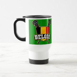 Belgien-Flaggelacrosse-Logo Teehaferl