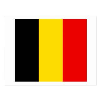 Belgien-Flaggen-Entwurf Postkarte