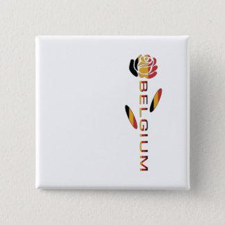 Belgien-Flaggen-Rose Quadratischer Button 5,1 Cm