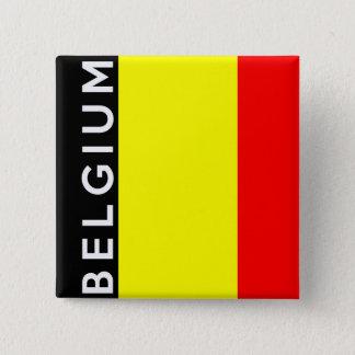 Belgien-Landesflaggetextname Quadratischer Button 5,1 Cm