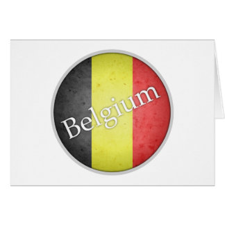 Belgien rundes Grunge-Flaggen-Abzeichen Karte