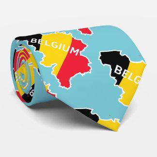 Belgienkarte und -flagge krawatte