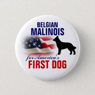Belgier Malinois für ersten Hund Runder Button 5,7 Cm