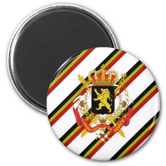 Belgier stripes Flagge Runder Magnet 5,7 Cm
