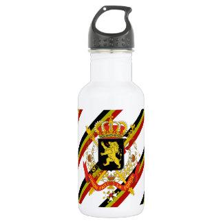 Belgier stripes Flagge Trinkflasche