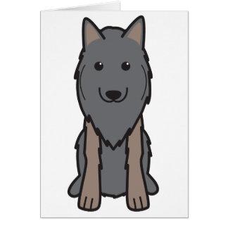 Belgier Tervuren HundeCartoon Karte