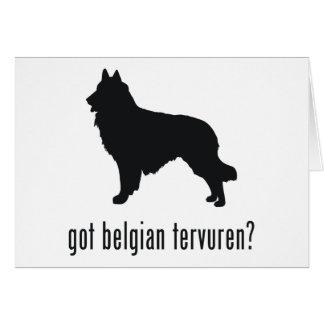 Belgier Tervuren Karte