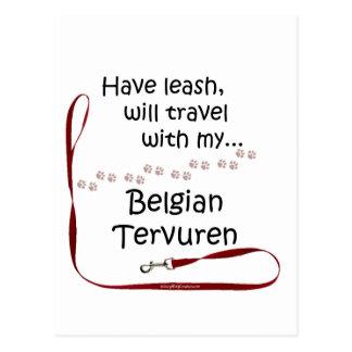 Belgier Tervuren Reise-Leine Postkarte