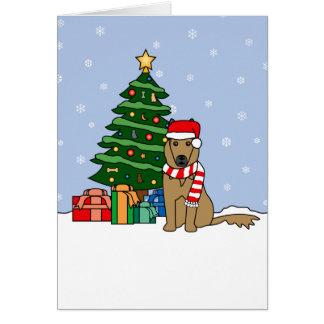 Belgier Tervuren und Weihnachtsbaum Karte