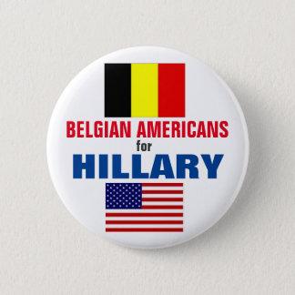 Belgische Amerikaner für Hillary 2016 Runder Button 5,1 Cm