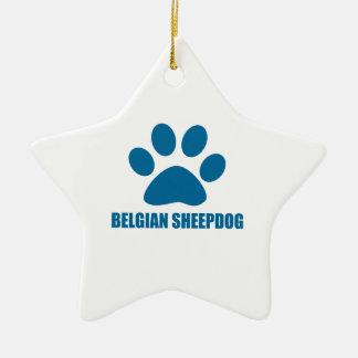 BELGISCHE SCHÄFERHUND-HUNDEentwürfe Keramik Ornament