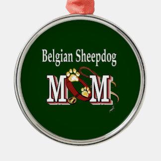 Belgische Schäferhund-Mamma Silbernes Ornament