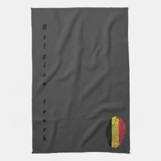 Belgische Touchfingerabdruckflagge Geschirrtuch