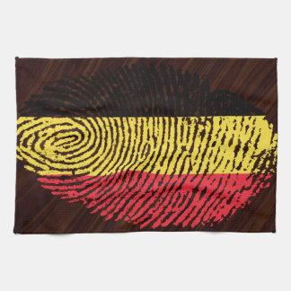 Belgische Touchfingerabdruckflagge Küchentuch