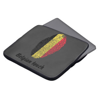 Belgische Touchfingerabdruckflagge Laptop Sleeve
