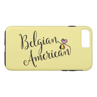 Belgischer Amerikaner entwirrter Herz-Handy-Fall iPhone 8 Plus/7 Plus Hülle