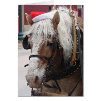 Belgischer Entwurfs-Pferdeweihnachtsgruß Karte