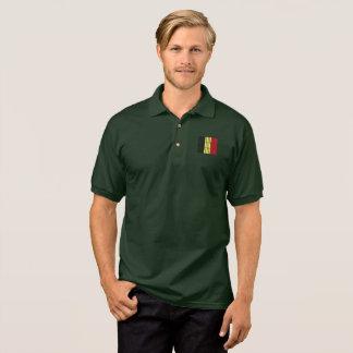 Belgischer Flaggenkleidungsentwurf Polo Shirt
