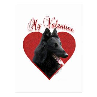 Belgischer Schäferhund mein Valentinsgruß Postkarte