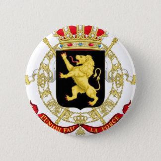 Belgisches Emblem - Wappen von Belgien Runder Button 5,1 Cm