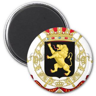 Belgisches Emblem - Wappen von Belgien Runder Magnet 5,1 Cm