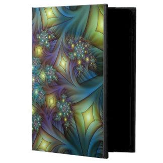 Belichtetes modernes blaues lila Fraktal-Muster
