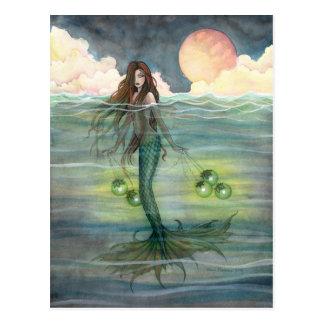 """Belichtetes See"" Meerjungfrau-Postkarte Postkarten"