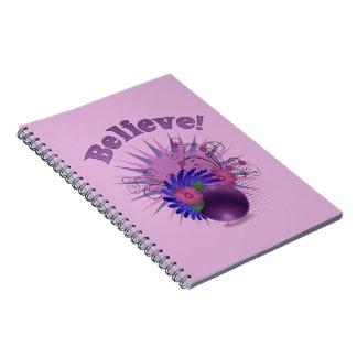 Believe der bunten Trendy das abstrakte Notiz Buch
