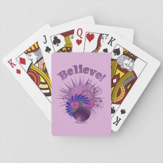 Believe der bunten Trendy das abstrakte Spielkarte