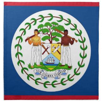 Belize-Flagge auf MoJo Serviette