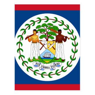 Belize-Flagge Postkarte