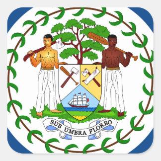 Belize-Flagge Quadratischer Aufkleber