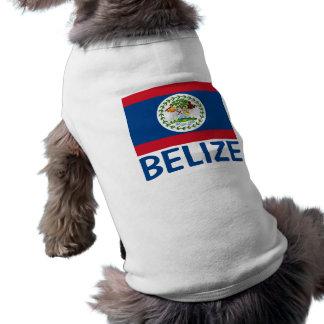 Belize-Flaggen-kundengerechter blauer Text Top