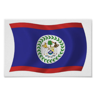 Belize-Flaggen-Plakat-Druck Poster